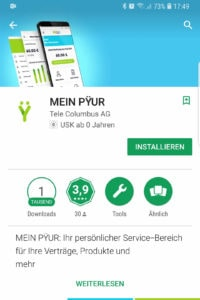 PYUR App - Playstore